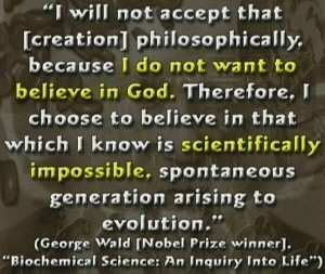 To believe in something that you know is scientifically impossible.